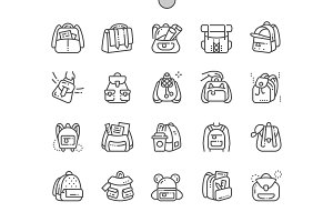 Backpacks Line Icons