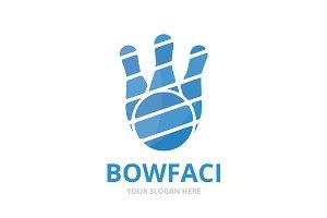 Vector bowling logo combination.