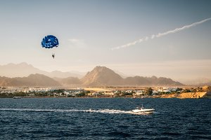 Parasailing in Sharm el Sheikh, Egypt