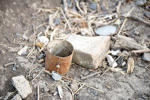 Old rusty can - rubbish