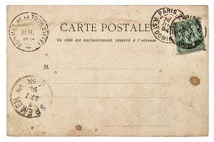 Vintage postcard Used paper texture