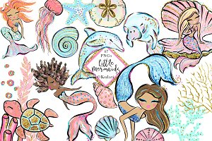 Glitter Mermaids Clip Art / Graphics