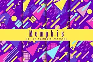 Memphis seamless pattern