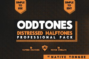 OddTones - Distressed Halftone Pack