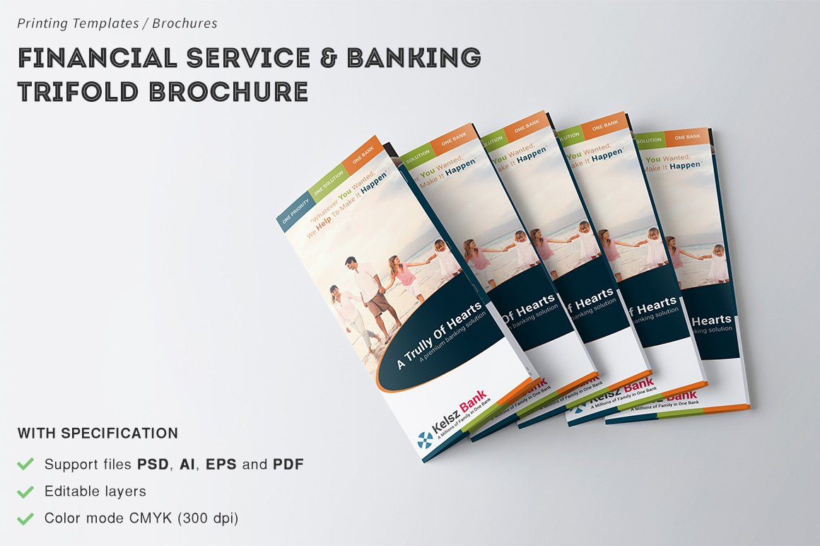 financial service banking brochure brochure templates creative market. Black Bedroom Furniture Sets. Home Design Ideas