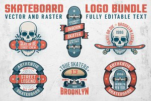 Skateboard Logo Bundle