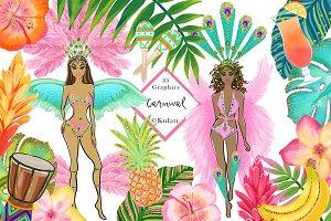 Carnival Girl Clip Art / Graphics