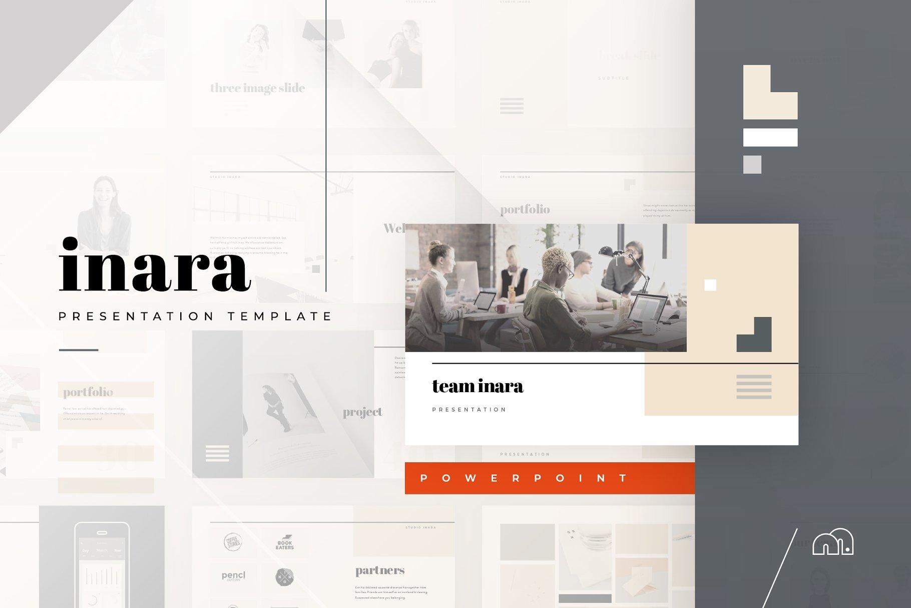 inara powerpoint presentation templates creative market pro
