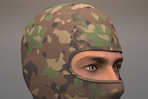 Military Balaclava mask Woodland