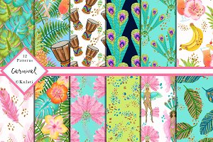 Carnival Digital Papers / Patterns
