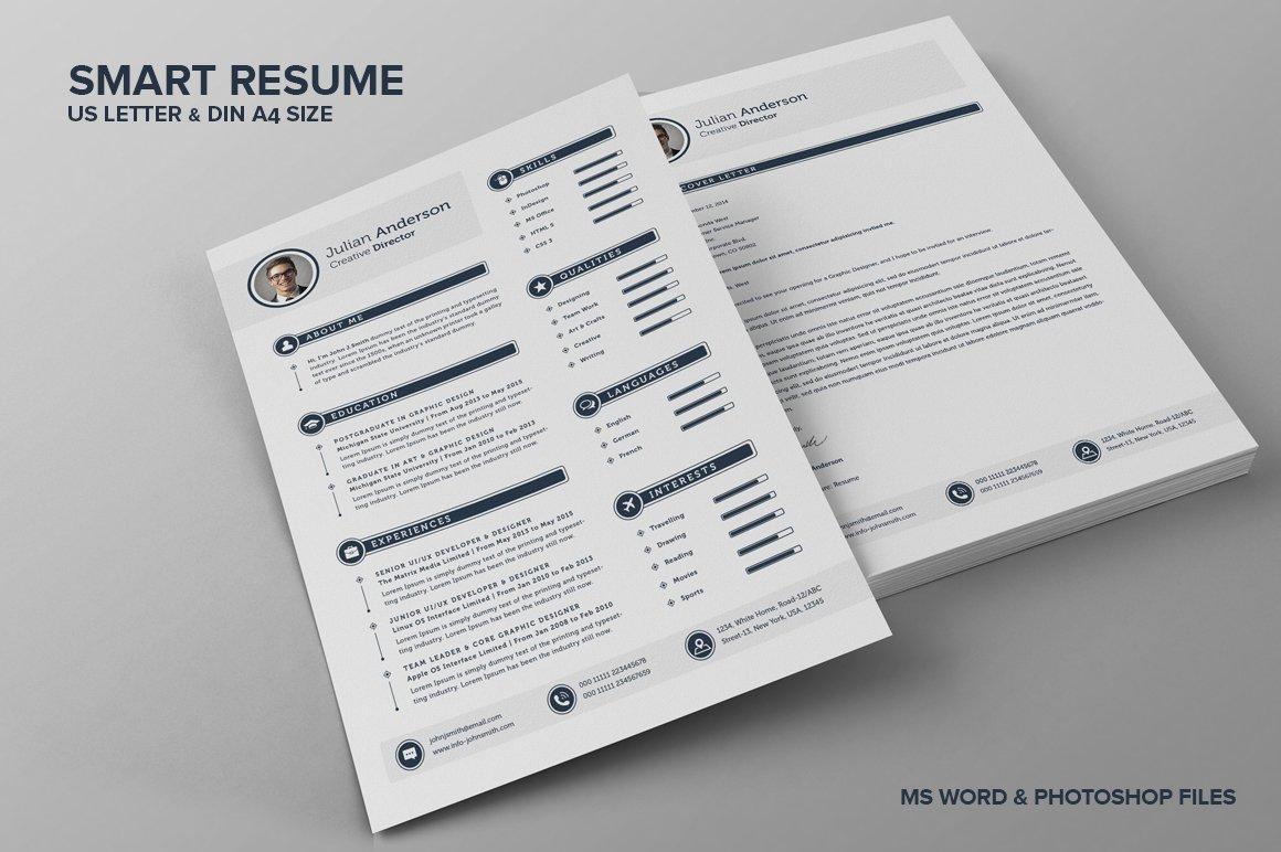 The smart cv resume julian resume templates creative market yelopaper Gallery