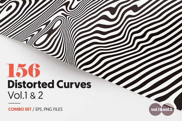 Patterns: Texture Fabrik - 156 Distorted Curves Vol.1 & 2