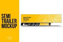 Truck Semi Trailer PSD Mockup