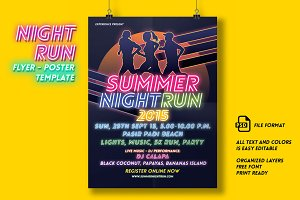 Night Run Event Flyer & Poster