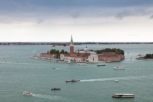 Panoramic view of old Venice
