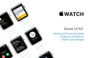 Apple Watch UI Kit for Axure RP Pro
