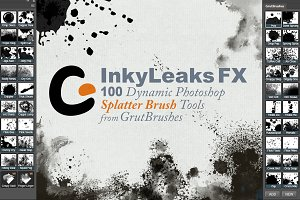 100 Photoshop Splatter Brush Tools