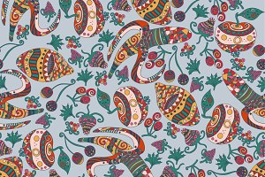 Abstract Fruits Pattern