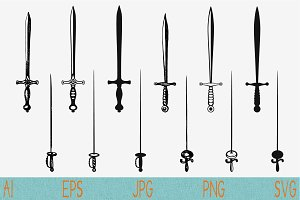 medieval, knightly sword svg png eps