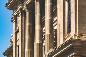 Facade of Ionic columns of MNAC
