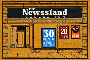 The Newsstand Font Collection