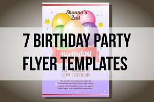 7 Birthday party flyer templates