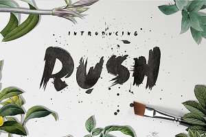 Rush Brush Font