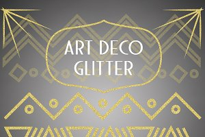 Art Deco Glitter Patterns & Graphics