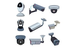 Security cameras. Cctv systems