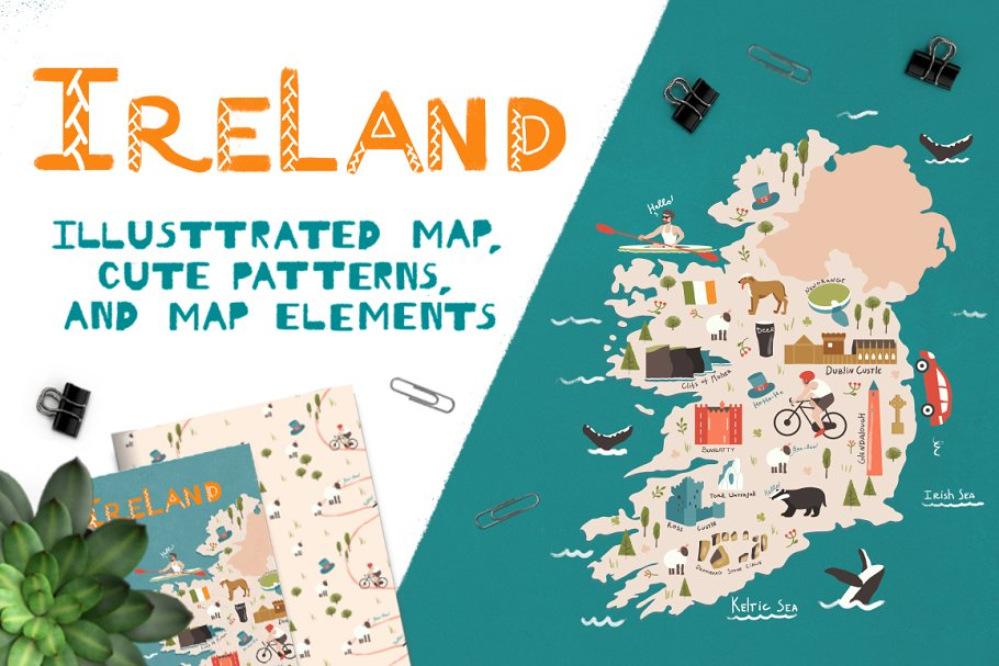 Ireland: illustrated map ~ Illustrations ~ Creative Market on map of netherlands, map of european countries, map of japan, map of britain, map of british isles, map of dublin, map of skellig islands, map of denmark, map of united kingdom, map of ring of kerry, map of united states, map of prince edward island, map of eastern hemisphere, map of yugoslavia, map of northeast us, map of sweden, map of scotland, map of london, map of hong kong, map of philippines,