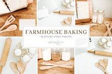 Farmhouse Baking Stock Photo Bundle