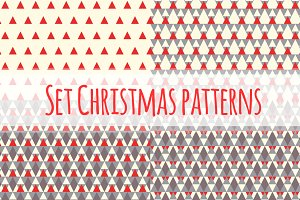 Set Christmas geometric patterns