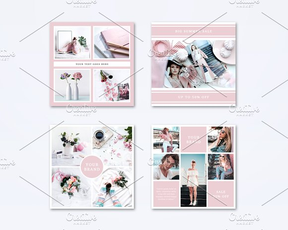 Social Media Templates Set in Instagram Templates - product preview 1