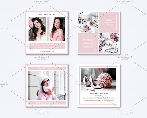 Social Media Templates Set in Instagram Templates - product preview 2