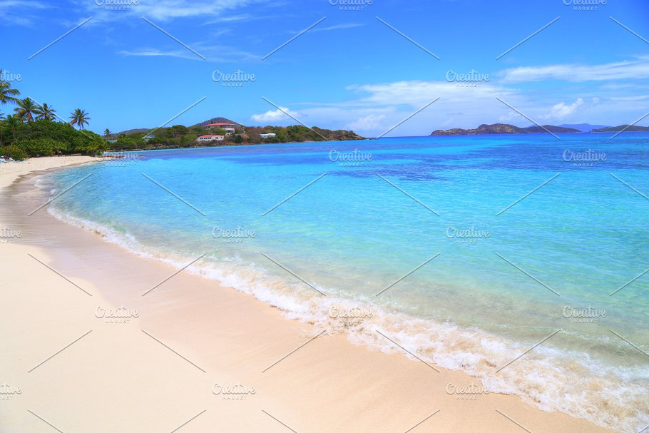 sapphire beach on st thomas island nature photos creative market