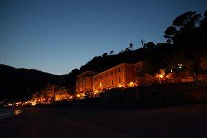 Italy, Monterosso shore at night
