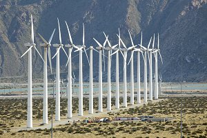 Dramatic Wind Turbine Farm