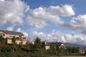 Cloudy Sky on Neighbor Hillside