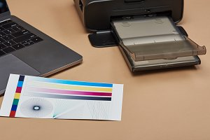 Performing color printer test paper