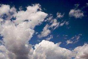 Dramatic Clouds on a Deep Blue Sky.