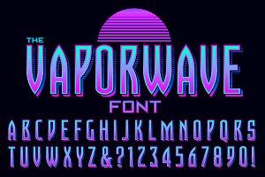 Lettering Design: Vaporwave Font