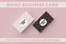 2 Boho Business Card Template