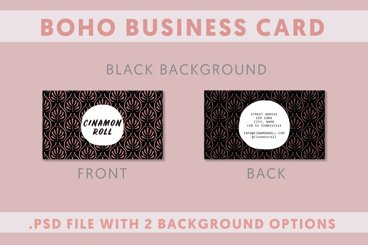 2 Boho Business Card Template in Business Card Templates