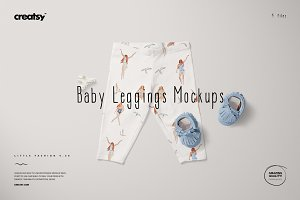 Baby Leggings Mockup Set