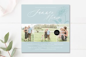 Summer Mini Session Template PSD