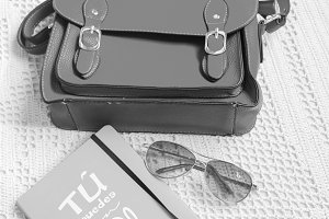 Bag Sunglasses Book in Black White