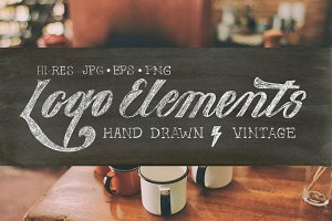 Drawn Vintage Logo Elements