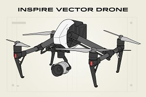 Inspire Vector Drone Illustration