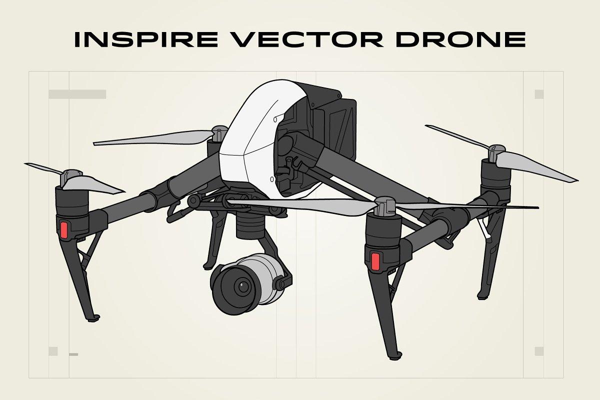 Inspire Vector Drone Illustration