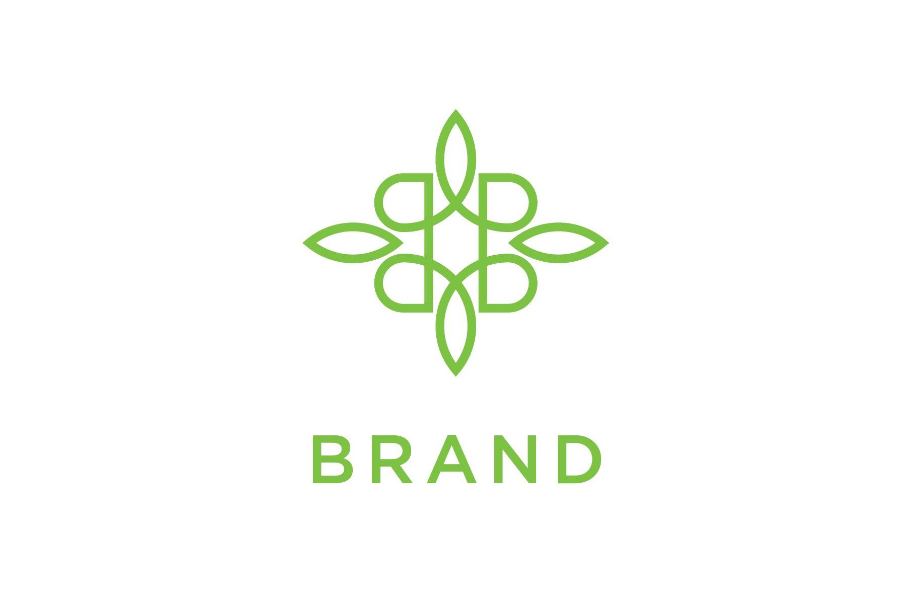 modern nature logo creative illustrator templates creative market modern nature logo